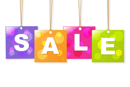 special price: Hanging Sale Labels, Isolated On White Background