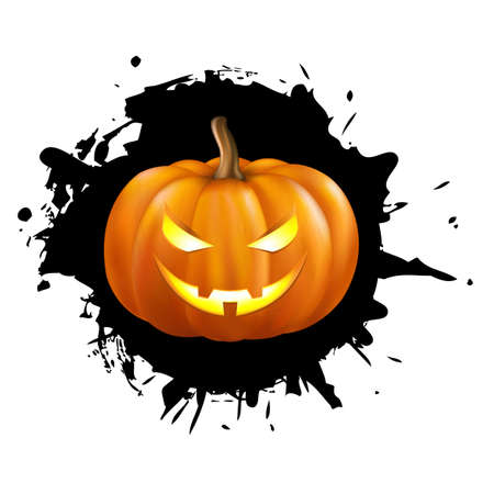Pumpkin For Halloween Isolated On White Background Stock Vector - 10854908