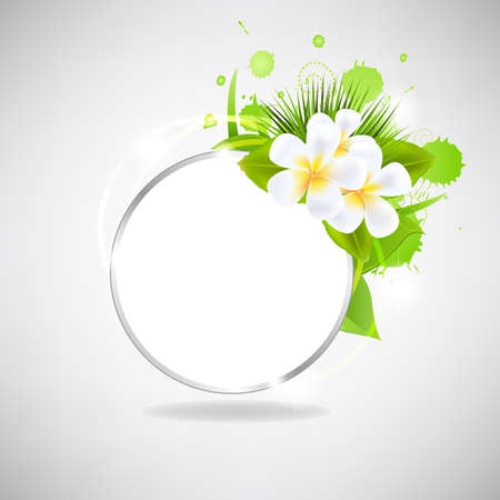 Eco Glass Speech Bubble With Flowers, Isolated On White Background. Vector