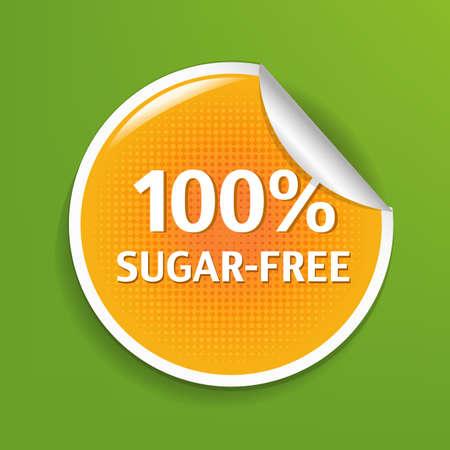Sugar Free Label. Vector