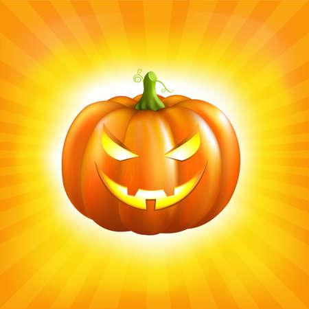 Sunburst Halloween Background.