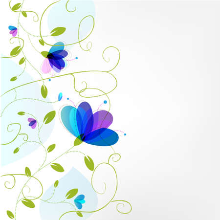 tiling: Abstract Flower Background.