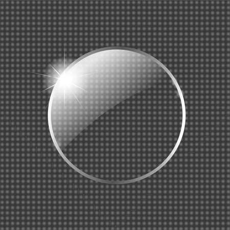 Glass Ball With Star, Vector Illustration Vector
