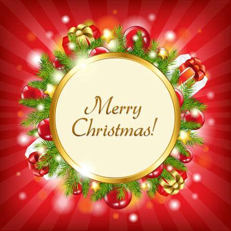 Merry Christmas Card, Vector Illustration Vector