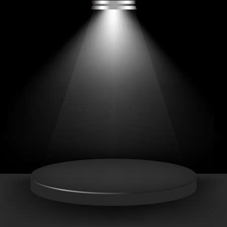 empty stage: Spotlight Presentation Room, Vector Illustration