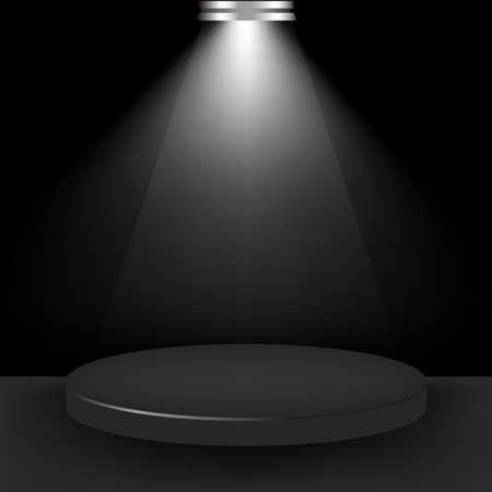 live on air: Spotlight Presentation Room, Vector Illustration