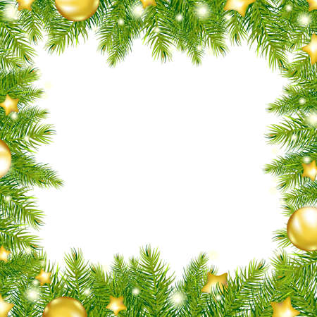downy: Christmas Background With Christmas Tree, Vector Illustration Illustration