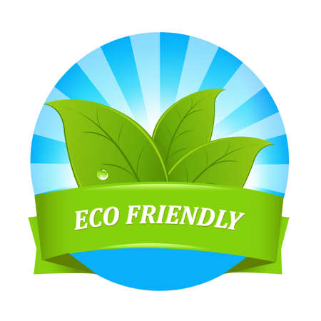 Eco Friendly Label, Isolated On White Background, Vector Illustration Stock Vector - 11349776