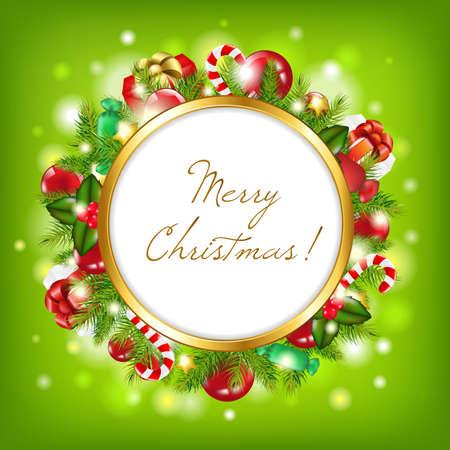fake christmas tree: Merry Christmas, Vector Illustration