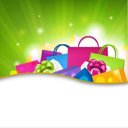 Helle Einkaufen Hintergrund, Vektor-Illustration