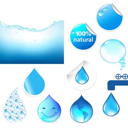 reflectie water: Water Symbolen Set