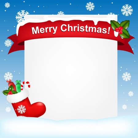 botas de navidad: Feliz Navidad Y A�o Nuevo Fondo, Ilustraci�n Vectorial