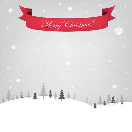 Retro Christmas Card, Vector Illustration Stock Vector - 11349775