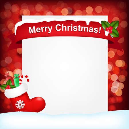 botas de navidad: Ilustraci�n para la Navidad, ilustraci�n vectorial