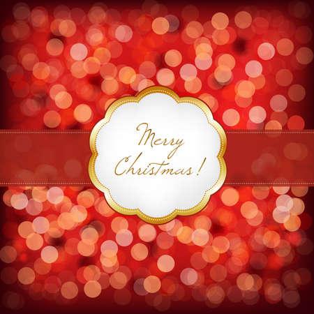 Merry Christmas Elegant Vintage Frame, Vector Illustration Vector