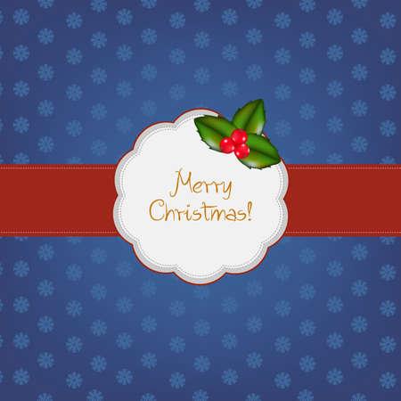 Vintage Merry Christmas Frame, Vector Illustration Stock Vector - 11349806