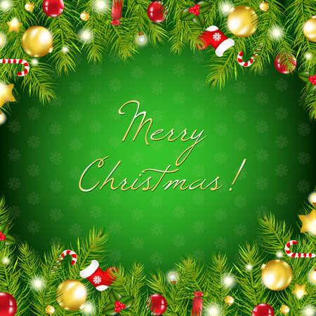 christmas bells: Christmas Composition, Vector Illustration Illustration
