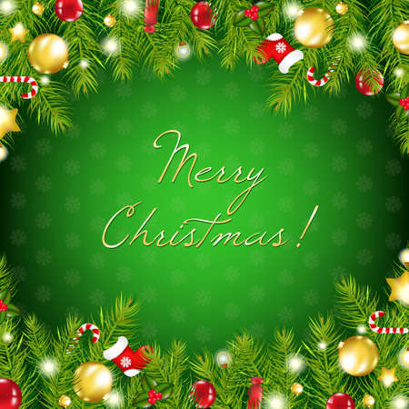 campanas de navidad: Composición de Navidad, ilustración vectorial