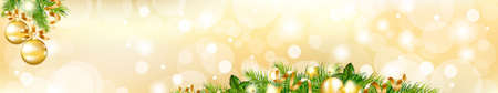 Christmas Header, Vector Illustration  Vector