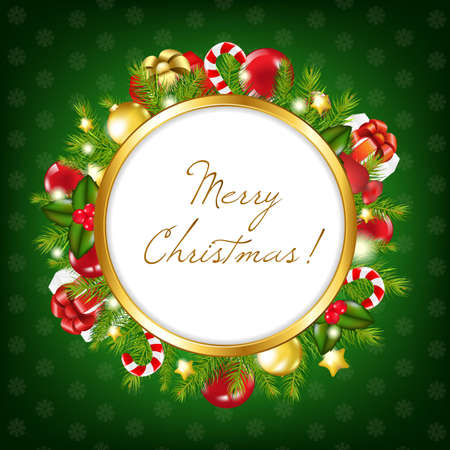 Xmas Vintage Frame, Vector Illustration Stock Vector - 11579522