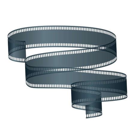 filmroll: Movie Film, Isolated On White Background, Illustration