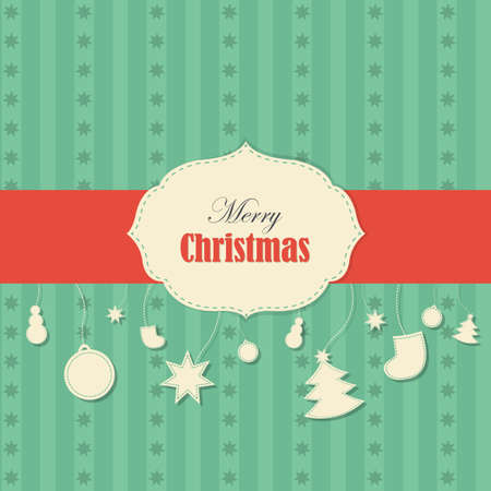 Christmas Vintage Background, Illustration  Vector