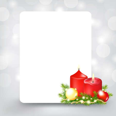 Xmas Silver Card, Illustration  Stock Vector - 11662991