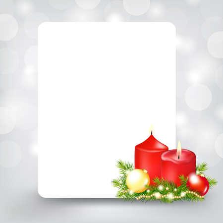 Xmas Silver Card, Illustration Stock Vector - 11662991