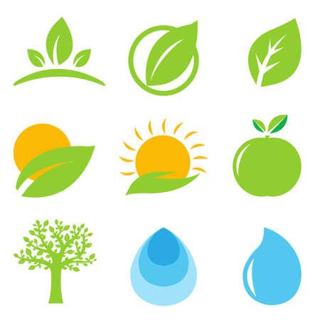 manos logo: 9 Logo Eco, aisladas sobre fondo blanco