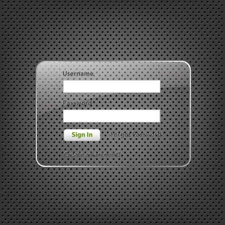 Glas Framework op abstracte metalen achtergrond, vector afbeelding