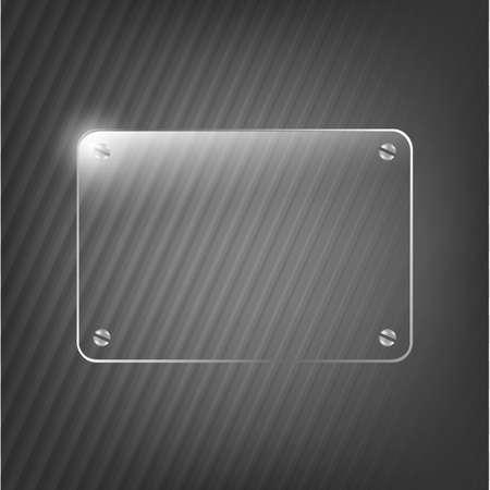 Glass Framework On Black Background, Vector Illustration Stock Vector - 12336052