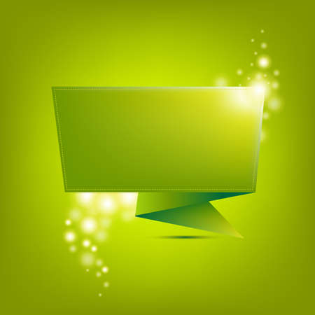 Green Paper Origami, Vector Background Vector