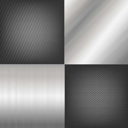 platinum metal: 4 Metal Texture Backgrounds, Vector Background