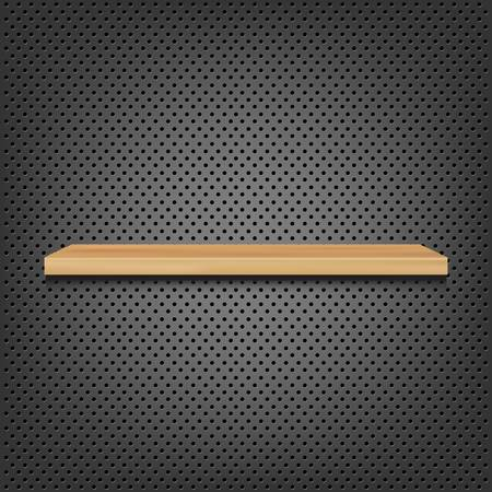 Shelf On Abstract Metal Background, Vector Background Vector