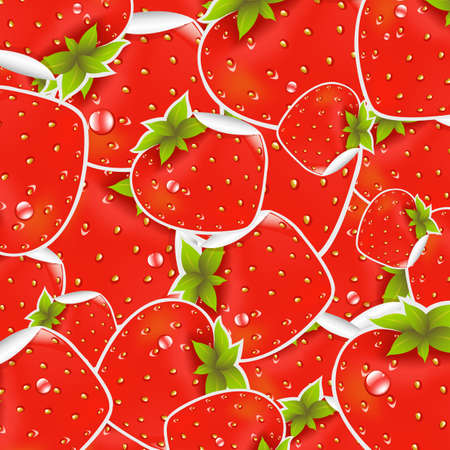 Labels Strawberry, Vector Illustration Vector