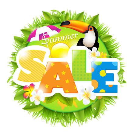 Summer Sale Template, Vector Illustration Stock Vector - 12958790