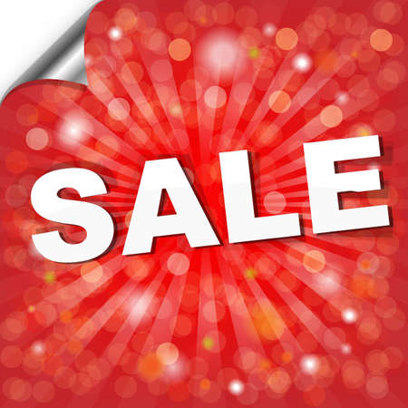 Red Sale Poster With Bokeh, Vector Illustration Vector
