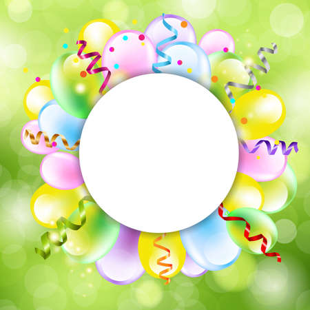 Happy Birthday Background With Balloon, Vector Illustration