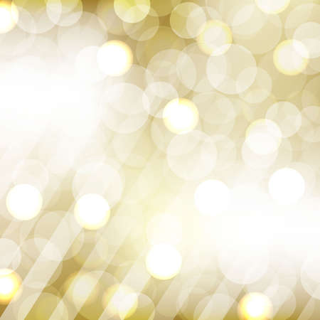 patch of light: Golden Bokeh With Blurred Background, Vector Illustration