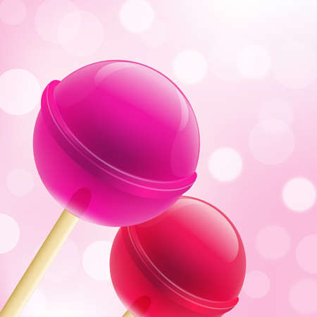 glow stick: 2 Sweet Lollipops And Bokeh Background