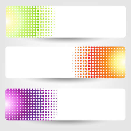 Abstract Banners Set, Isolated On Grey Vector