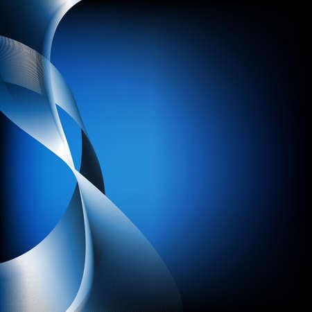 Abstracte Blauwe Golven, Geà ¯ soleerd Op Zwarte Achtergrond