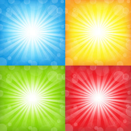 Sunburst And Bokeh Big Set Vector