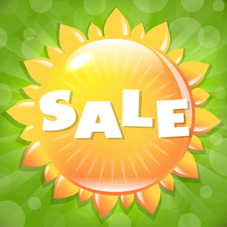 Summer And Spring Sale Poster, Vector Illustration Stock Vector - 14513215