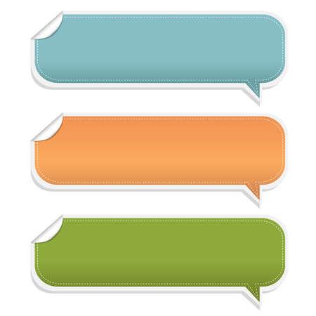 speak bubble: 3 Speech Bubble Frames, Isolated On White Background