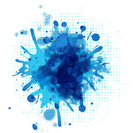 Abstract Blue Blob, Isolated On White Background, Vector Illustration Vector
