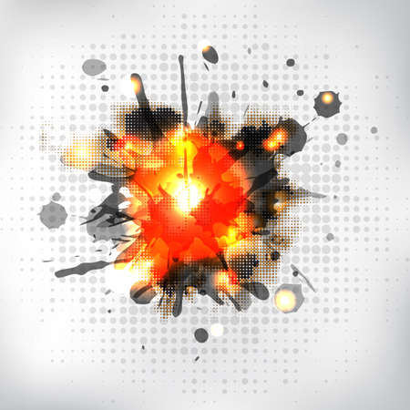 bengal fire: Burning Sparkler, Isolated On White Background