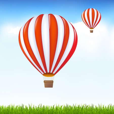 midair: Hot Air Balloons Floating In Sky