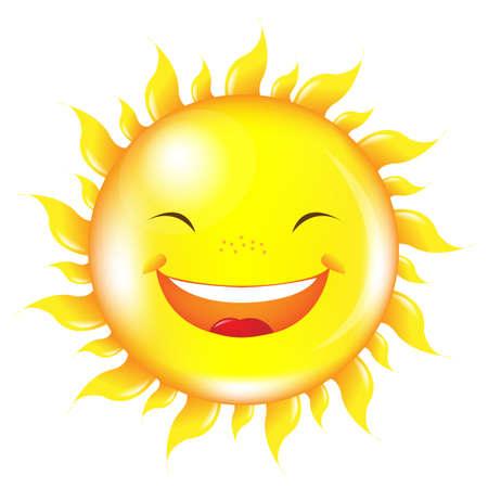 Cartoon Sun, Isolated On White Background Stock Vector - 15307546
