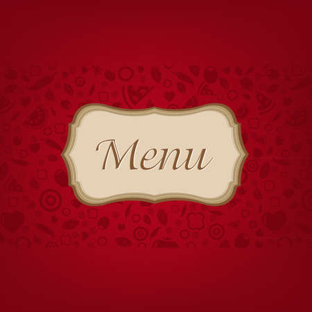 Dark Red Background With Menu Stock Vector - 15307595